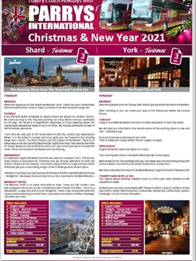 Christmas & New Year Brochure